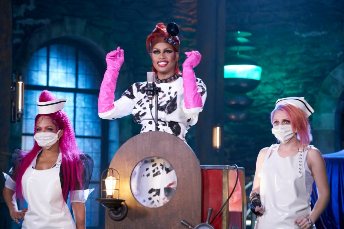 THE ROCKY HORROR PICTURE SHOW: LET'S DO THE TIME WARP AGAIN: L-R: Christina Milian, Laverne Cox and Annaleigh Ashford in THE ROCKY HORROR PICTURE SHOW: LET'S DO THE TIME WARP AGAIN: Premiering Thursday, Oct. 20 (8:00-10:00 PM ET/PT) on FOX. ©2016 Fox Broadcasting Co. Cr: Steve Wilkie/FOX